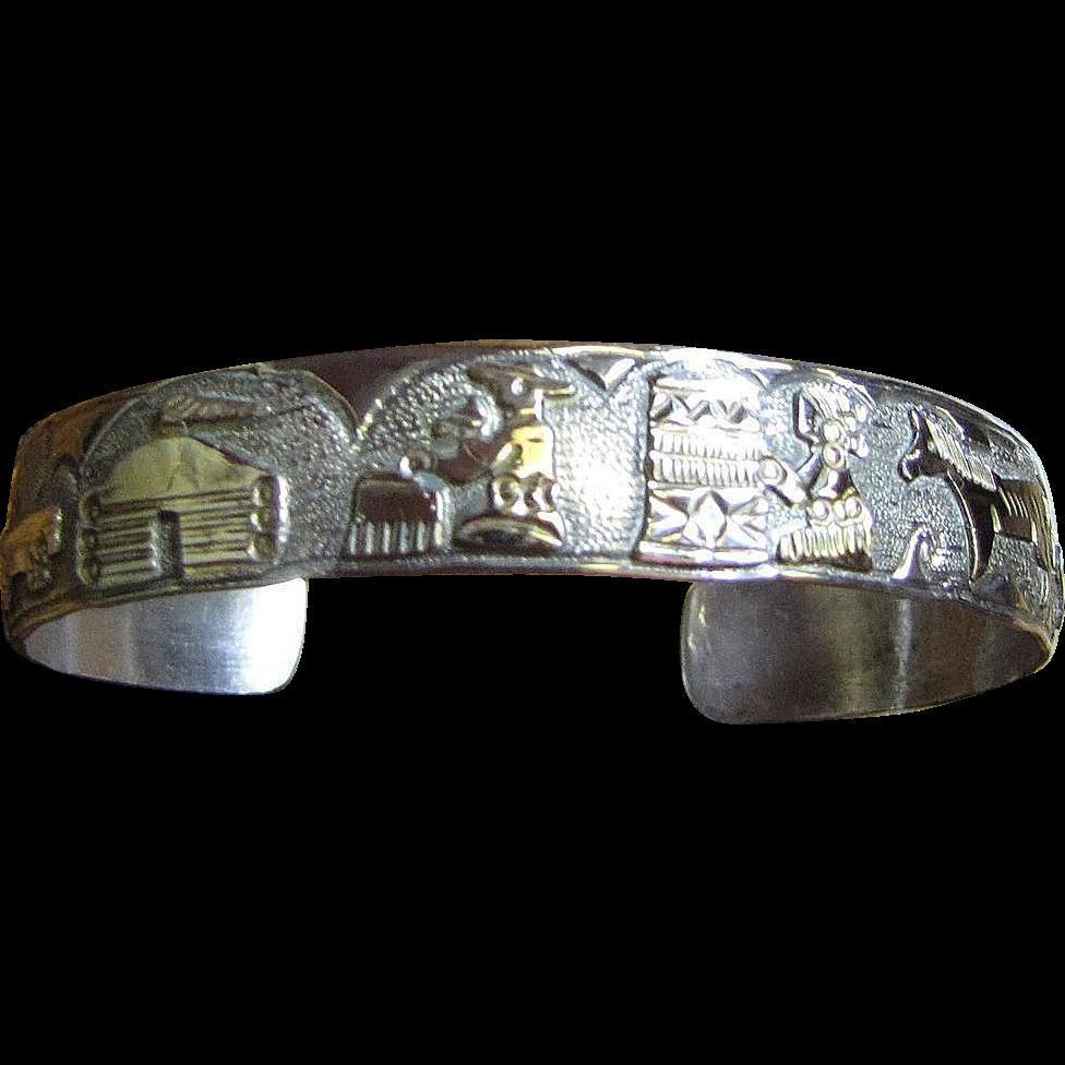 Bengay Navajo Sterling Storyteller Bracelet