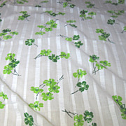 2 Yard + Bolt End of Retro Floral Sprigged Seersucker Cotton