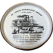 Vintage St.Louis Insurance Group Advertising Porcelain Tray