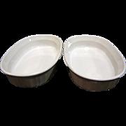Corning Ware Oval French White Individual Casserole Dish F-15 B