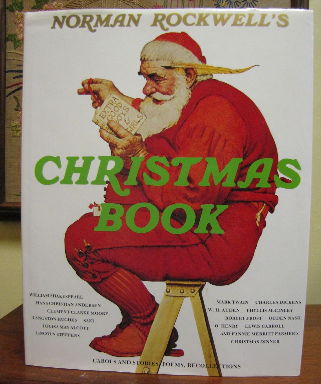 ON HOLD FOR HELEN Norman Rockwell\'s Christmas Book, 1st Edition ...