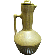 Monmouth Pottery Antique Stoneware Syrup Pitcher, Salt Glaze