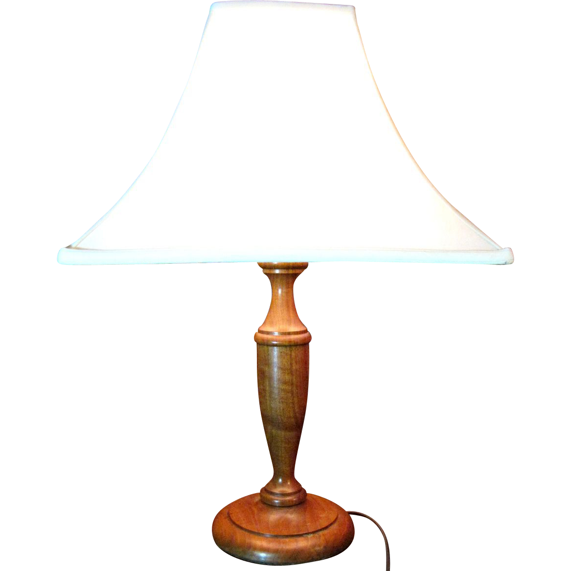 harris turned hardwood table lamp large lovely figured wood from faywrayantiques on ruby lane. Black Bedroom Furniture Sets. Home Design Ideas