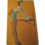 "1940's, ""In the Dough Pin Up Girl"" Mutoscope arcade lithograph Elvgren Art Card‏"