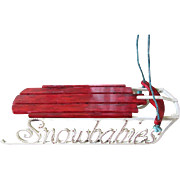 Lovely Snowbabies Hand Painted Doll Sleigh