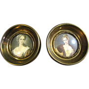 Pair of Cameo Creation Portrait Prints, Lady Dower & Countess Hohnstein