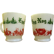 Fun Pair of Anchor Hocking Egg Nog Cups