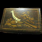 Harris, Rosewood Inlaid Box, Beautiful Bird!