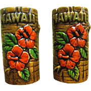 Vintage Orchids of Hawaii Tiki Salt & Pepper Shaker Set‏, Japan