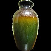 Beautiful Small Art Pottery Vase, Lovely Metalic Glazes