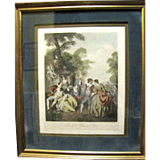 "Original ""La Danse"" Engraving by Franz Hafstaengl after Jean Baptiste Joseph Pater"