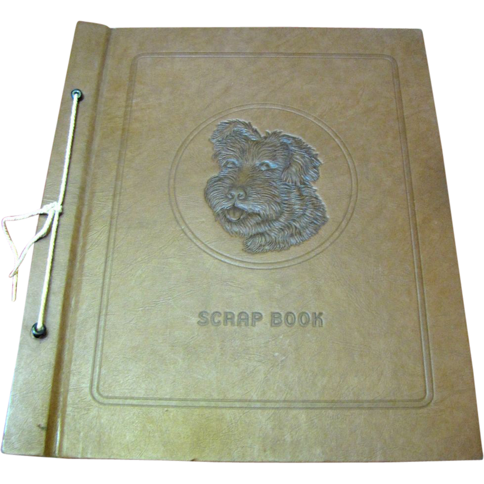 Vintage Scrapbook Cover ~ Vintage dog cover scrapbook circa s nr mint from