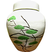 Art Deco Ginger Jar with Great Stylised Tree Design