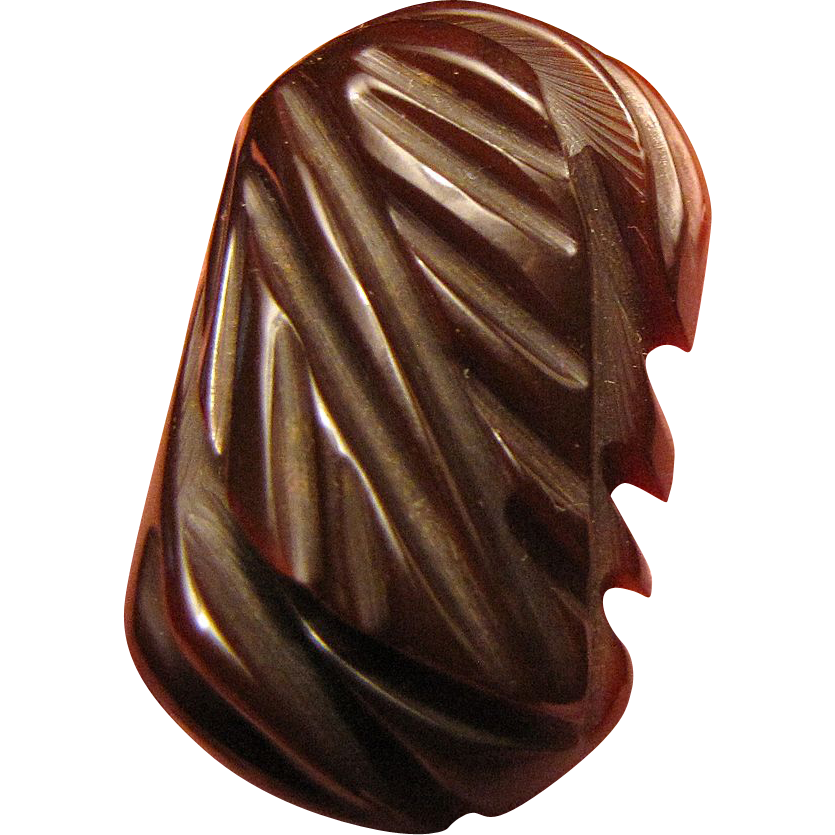 Super Deeply Carved Bakelite Dress Clip