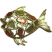 Florenza Enameled Fish Pin, Gorgeous!