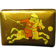 Mongolian Polo Player Match Box Holder, Fun!