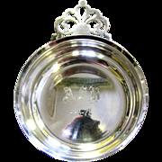 Vintage Silver Plated Lunt Porringer Bowl with Pierced Handle