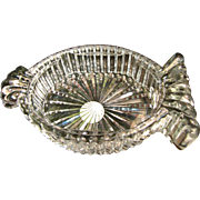 Lead Crystal Stylised Fish Trinket Dish by Crystal Clear