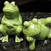 Vintage Norcrest Japan H923 Frog Salt & Pepper Shakers