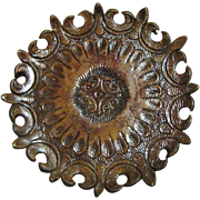 Unusual Hand Crafted Leather Tooled Platter, Rio, Brasil