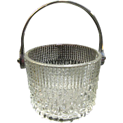 Beautiful Vintage Ornate Crystal Ice Bucket Teleflora France