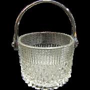 Beautiful Vintage Ornate Crystal Ice Bucket Teleflora France