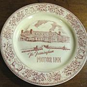 1940's Framingham Motor Inn Resturant Plate by Morris Gordon