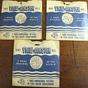 3 View-Master Reels: The Resurrection, Adventures of Tom Sawyer & Adventures of Tarzan