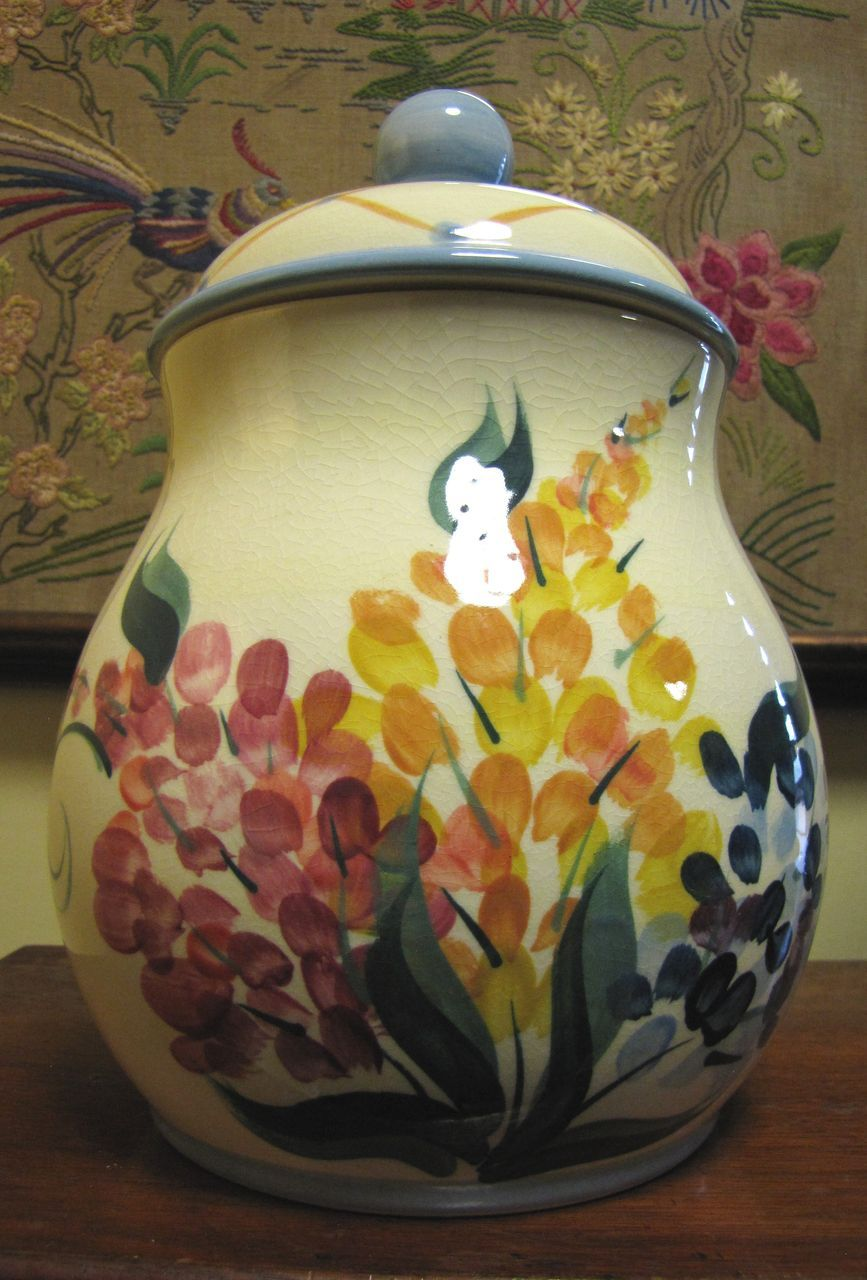 Rare Gail Pittman Garden View Large Cookie Jar