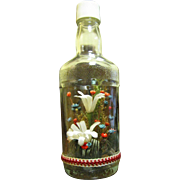 Flowers in a Bottle, Fun Vintage Arrangement from Japan