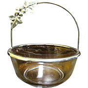Silver Plate and Glass Candy or Sugar Basket