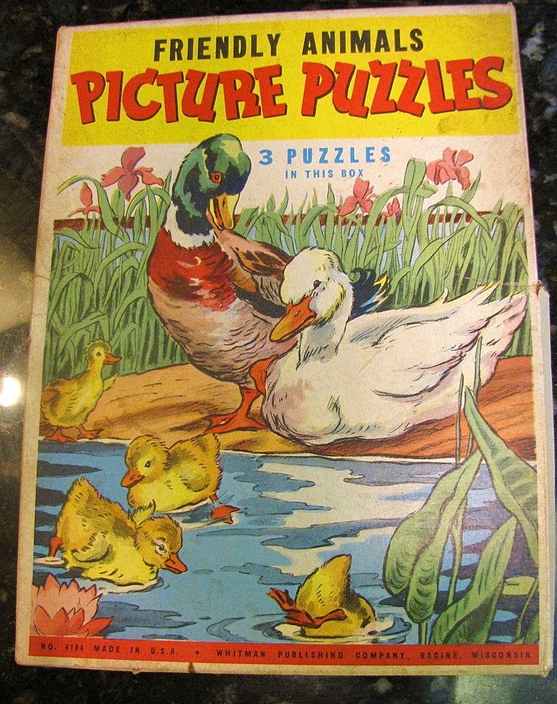 Friendly Animals Picture Puzzles (3 in Box) Circa 1950's
