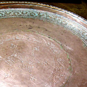 Antique Moroccan Hand Made Copper Tray, Beautiful