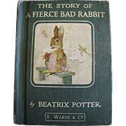 The Story of a Fierce Bad Rabbit by Beatrix Potter, circa 1970's