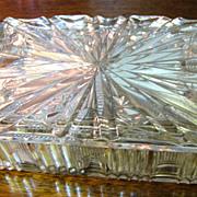 Beautiful Crystal Card, Trinket or Cigarette Box