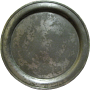"""Circa 1800's Pewter Platter 12 3/4"""", Touch Mark of Minuteman"""
