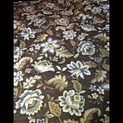 2yds of Sumptous 14 Color Screen Printed Botanical Linen Union
