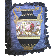 For Harris Jan. Needlepoint & Petite Point Floral Urn Pillow (up to 2 available)