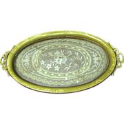 Beautiful Art Deco Celluloid & Lace Vanity Tray