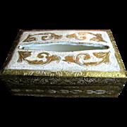 Vintage Gilt Florentine Tissue Box