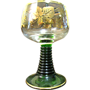 """Beautiful Gilt 4 1/2"""" Romer Glass (up to 5 available)"""