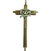 50th Anniversary Wall Crucifix, Lovely Christian Wedding Memento