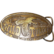 "1974 Bergamot Brass Works **Wild Turkey"" Belt Buckle"
