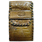 Vintage Mexican Tooled Leather Cigarette Case