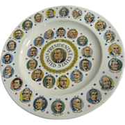 President L B Johnson & Other Presidents Commemorative Plate