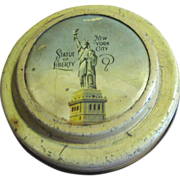 Circa 1930's Statue of Liberty NY Miniature Tin