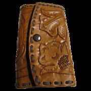 Nice 60's Tooled Leather Key Holder