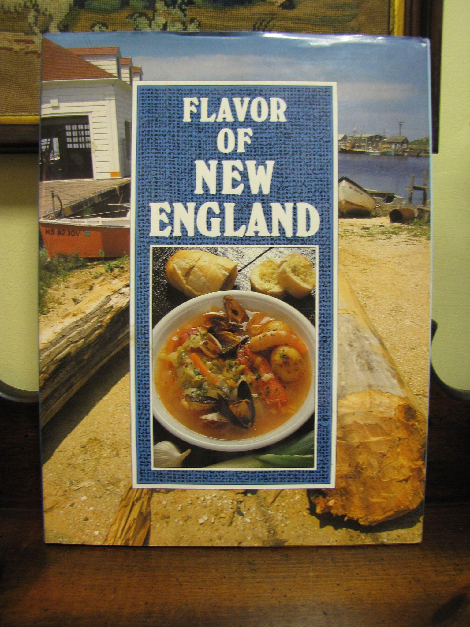 Hardcover Cookbook ~ Flavor of new england cookbook large hardcover from