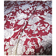 9 Yd Bolt End of Screen Printed Linen Union Paisley by Robert Allen