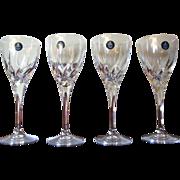 "Four Royal Doulton Wine Glasses,  Lead Crystal ""Elegance """
